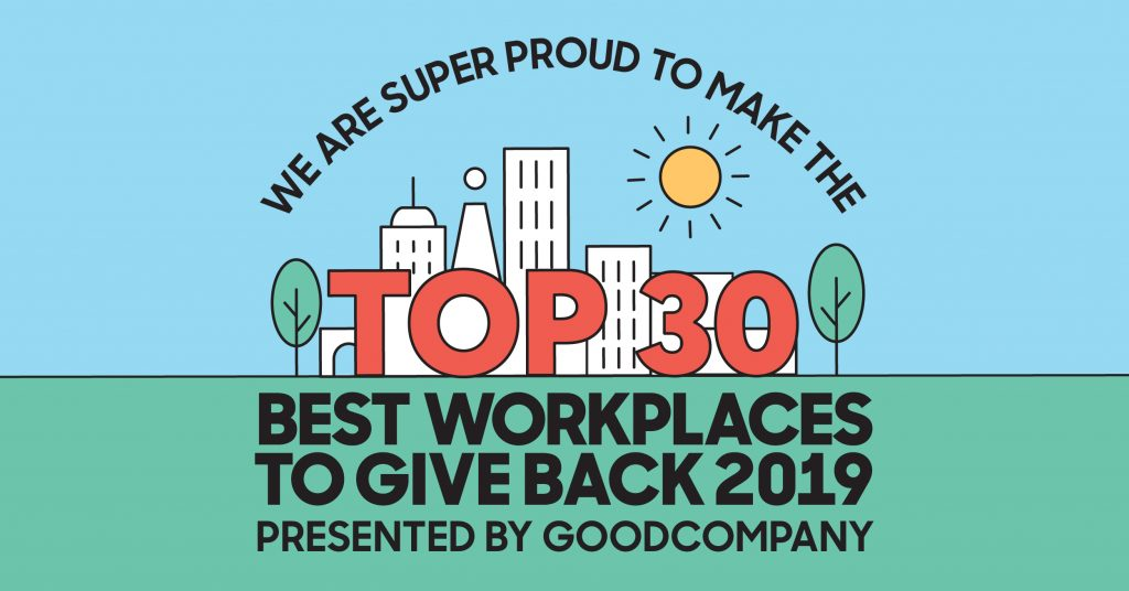 yourcreativeagency - YC wins Top 30 Workplaces to Give Back